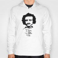 edgar allan poe Hoodies featuring Edgar Allan Poe  by SINPE