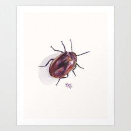 Beetle in my Garden Art Print