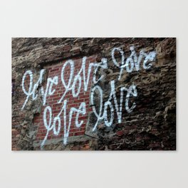 LOVE LOVE LOVE LOVE LOVE by Curtis Kulig Canvas Print