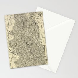 The Great Smoky Mountains National Park Map (1935) Stationery Cards