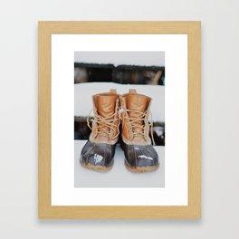 Snow Boots Framed Art Print