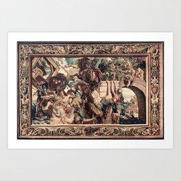 Triumph of Constantine over Maxentius at the Battle of the Milvian Bridge Art Print