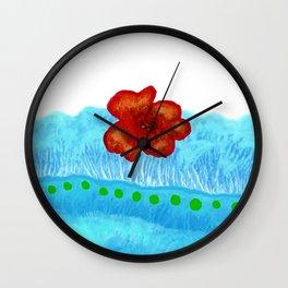 Coquelicot de jour bis Wall Clock