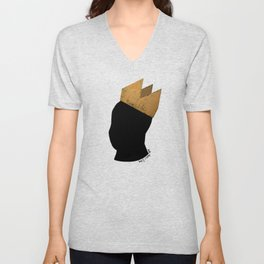 Crowned Head Tee (KNG) Unisex V-Neck