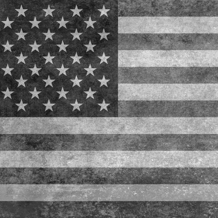 American flag - retro style in grayscale Comforters