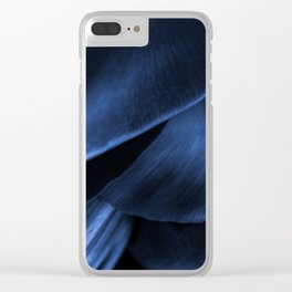 Succulent Leaf In Blue Color #decor #society6 #homedecor Clear iPhone Case