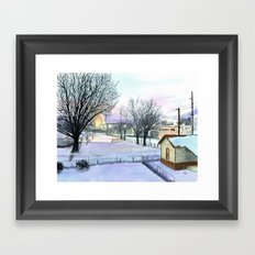 Backyard Ice Framed Art Print