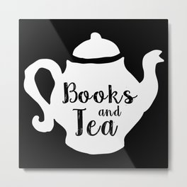 Books and Tea - Inverted Metal Print