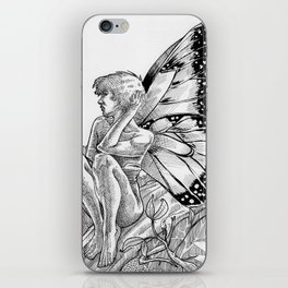 Shy Butterfly iPhone Skin