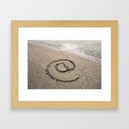 At Sign Written on Sand Framed Art Print