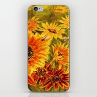 sunflowers iPhone & iPod Skins featuring SUNFLOWERS by Vargamari