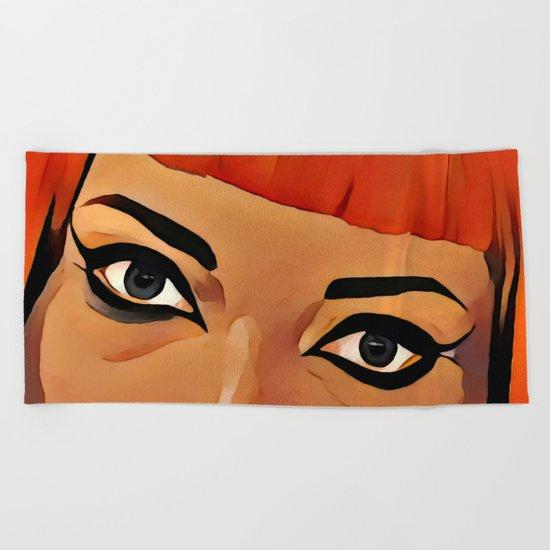 Eyes Beach Towel