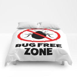 Bug free zone Comforters