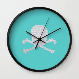 Shiny skull Wall Clock