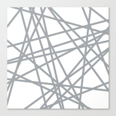 To The Edge Grey Canvas Print