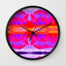 Purple, pink and orange tie dye Wall Clock
