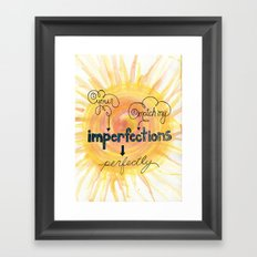 Imperfections Framed Art Print