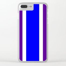 TEAM COLORS 10 ....BLUE/PURPLE Clear iPhone Case