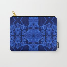 Blue Glow Orchid Techno-Floral Carry-All Pouch