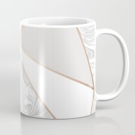 rose gold gray marble Coffee Mug