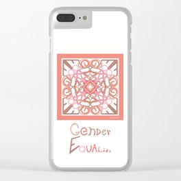 Gender Equality - Peach Clear iPhone Case