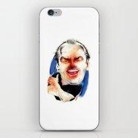 jack nicholson iPhone & iPod Skins featuring Jack Nicholson by drawgood
