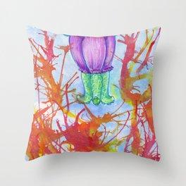 darling squidgirl Throw Pillow