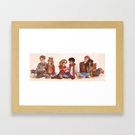 The Golden and the Silver Trio Framed Art Print
