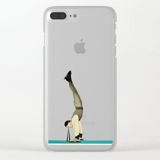 Skater Tricks Clear iPhone Case
