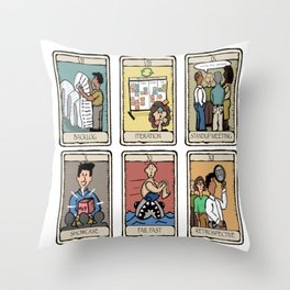 Office Tarot - Series 2 - Agile Throw Pillow