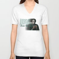 arya V-neck T-shirts featuring Arya Stark, Valar Morghulis by Your Friend Elle