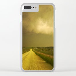 Nature's Fury Clear iPhone Case