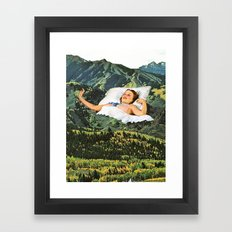 Rising Mountain Framed Art Print