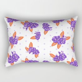 Floral clemson sports college football university varsity team alumni fan gifts Rectangular Pillow
