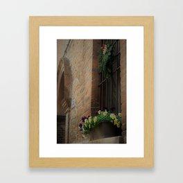 Christmas Window Ferrara Italy Framed Art Print