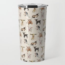 Vintage Goat All-Over Fabric Print Travel Mug
