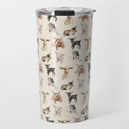 Vintage Goat All-Over Fabric Print Travel Mug