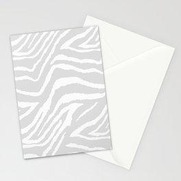 ZEBRA GRAY AND WHITE ANIMAL PRINT Stationery Cards