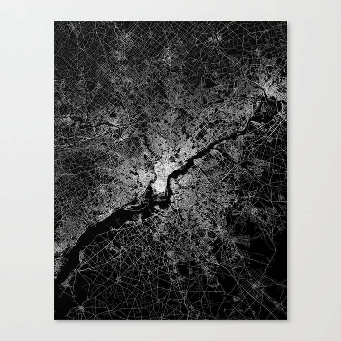 philadelphia map Canvas Print