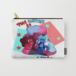 su steven universe garnet rupphire ruby sapphire the answer made of love  Carry-All Pouch