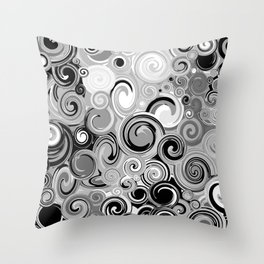 Smoke Stack Spirals Throw Pillow