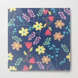 Secret Garden Pattern Metal Print