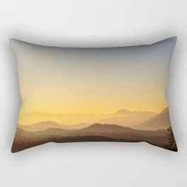 colorful autumn sunset in the italian countryside Rectangular Pillow