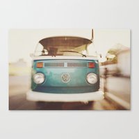 volkswagen Canvas Prints featuring Volkswagen Bus by Briole Photography