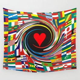 ONE WORLD-ONE LOVE Wall Tapestry