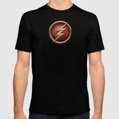 Flash Mens Fitted Tee MEDIUM Black
