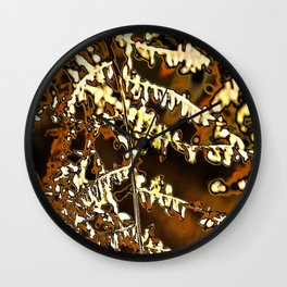 Abstract autumn fern leave Wall Clock