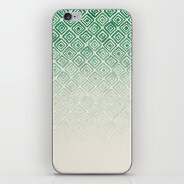 Ombre Watercolor Triangle Pattern (Green) iPhone Skin