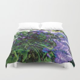 Abstracted Purple Petunias Duvet Cover