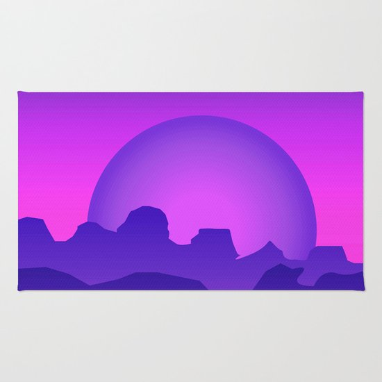 Night Landscape Rug